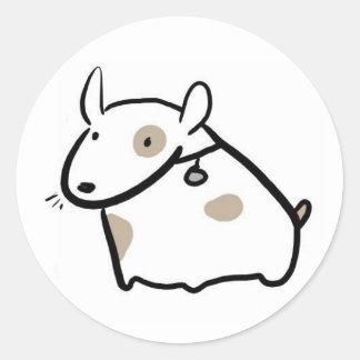 Blob Dog Classic Round Sticker
