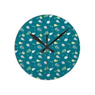 Blob Fish Round Clock