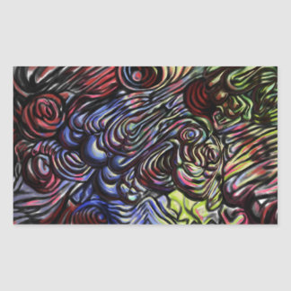 Blob like abstract design stickers