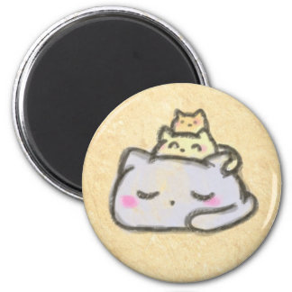 blobcat group fridge magnet