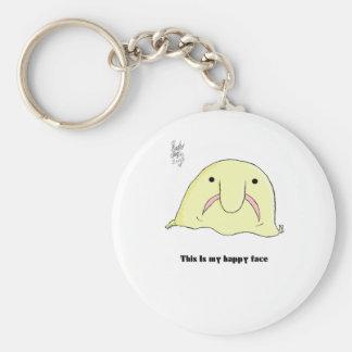 Blobfish Basic Round Button Keychain
