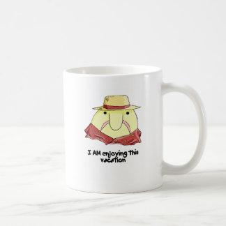 Blobfish on vacation classic white coffee mug