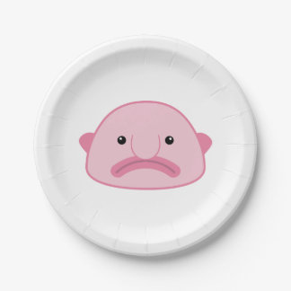 Blobfish Paper Plates