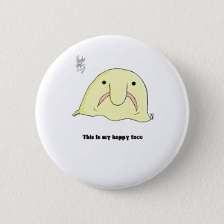 Blobfish Pinback Button