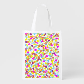 Blobs of Color Abstract Art Design Grocery Bag