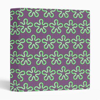 Blobs pattern 3 ring binder