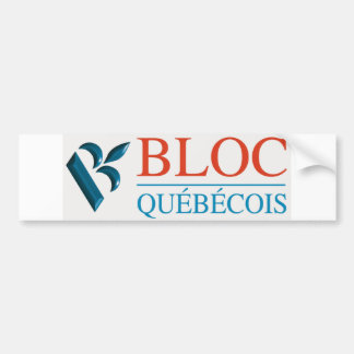 Bloc Québécois Logo Bumper Sticker