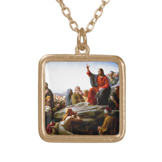 Bloch Sermon On The Mount Gold Plated Necklace