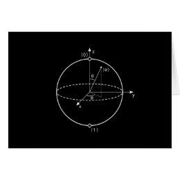 Bloch Sphere   Quantum Bit (Qubit) Physics / Math Card