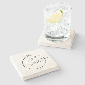 Bloch Sphere | Quantum Bit (Qubit) Physics / Math Stone Coaster