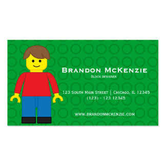 Block buildings designer Double-Sided standard business cards (Pack of 100)