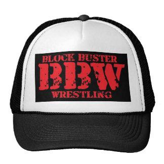 Block Buster Wrestling Mesh Hat Black