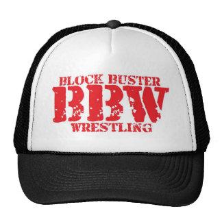 Block Buster Wrestling Mesh Hat White