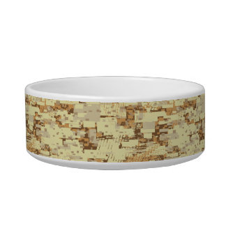 Block desert camouflage bowl
