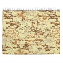 Block desert camouflage calendar
