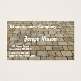 Block for pavements - stonemason business card