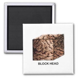 Block Head Magnet