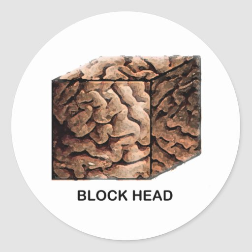 Block Head Stickers