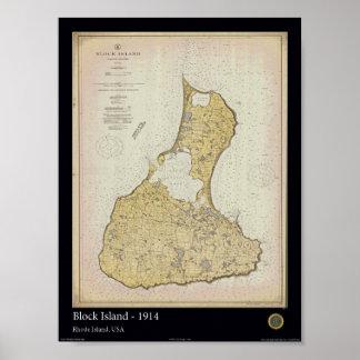 Block Island 1914 Poster