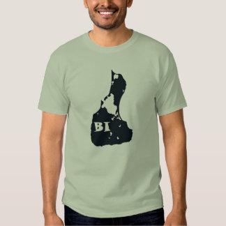 Block Island BI Island Shape T Shirt