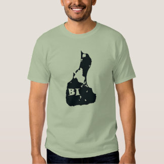 Block Island BI Island Shape Tee Shirt