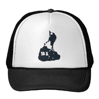 Block Island BI Island Shape Trucker Hat