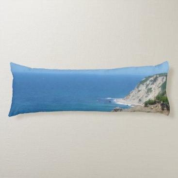 Block Island Bluffs - Block Island, Rhode Island Body Pillow