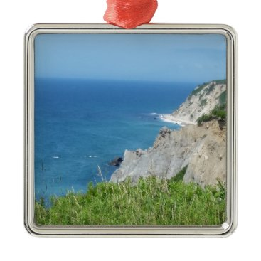 Block Island Bluffs - Block Island, Rhode Island Metal Ornament