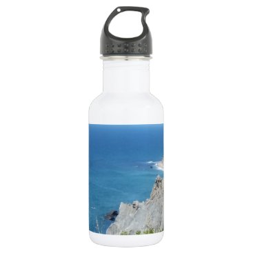 Block Island Bluffs - Block Island, Rhode Island Stainless Steel Water Bottle