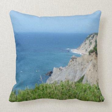 Block Island Bluffs - Block Island, Rhode Island Throw Pillow