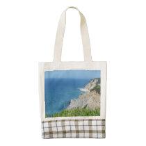 Block Island Bluffs - Block Island, Rhode Island Zazzle HEART Tote Bag