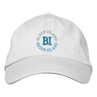 BLOCK ISLAND cap Embroidered Hats