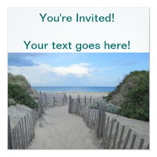 """Block Island de las dunas de arena Invitación 5.25"""" X 5.25"""""""