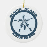 Block Island. Double-Sided Ceramic Round Christmas Ornament