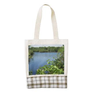 Block Island Fresh Water Pond Zazzle HEART Tote Bag