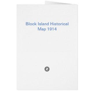 Block Island Historical Map 1914 Card