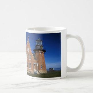 Block Island Lighthouse Classic White Coffee Mug