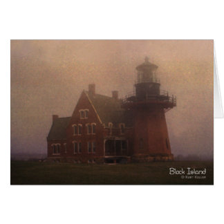 Block Island Lighthouse Stationery Note Card