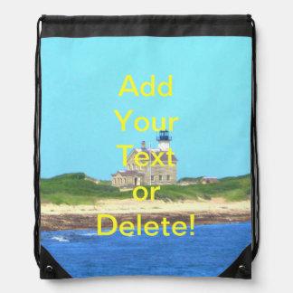 Block Island North Light Drawstring Bags