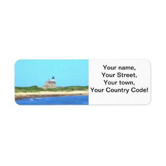 Block Island North Light Return Address Label