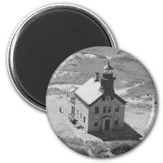 Block Island North Lighthouse 2 Inch Round Magnet