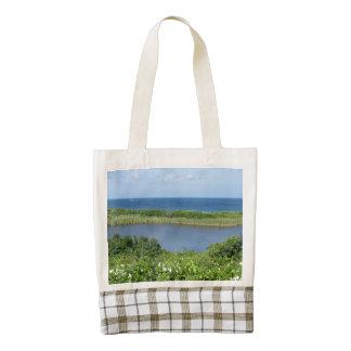 Block Island Pond 1 Zazzle HEART Tote Bag