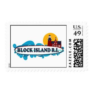 Block Island. Postage Stamp