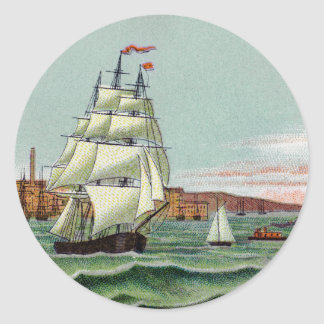 Block Island Round Sticker