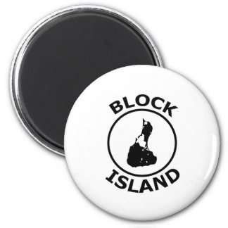 Block Island Shape Inside Circle Magnet