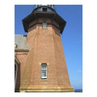 Block Island suroriental de la torre del faro Membrete A Diseño