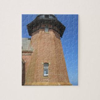 Block Island suroriental de la torre del faro Puzzle Con Fotos