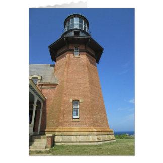 Block Island suroriental de la torre del faro Felicitación
