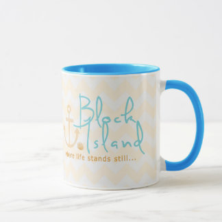 Block Island Tan and Teal Mug