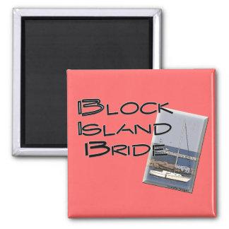 Block Island Weddings, Bride 2 Inch Square Magnet